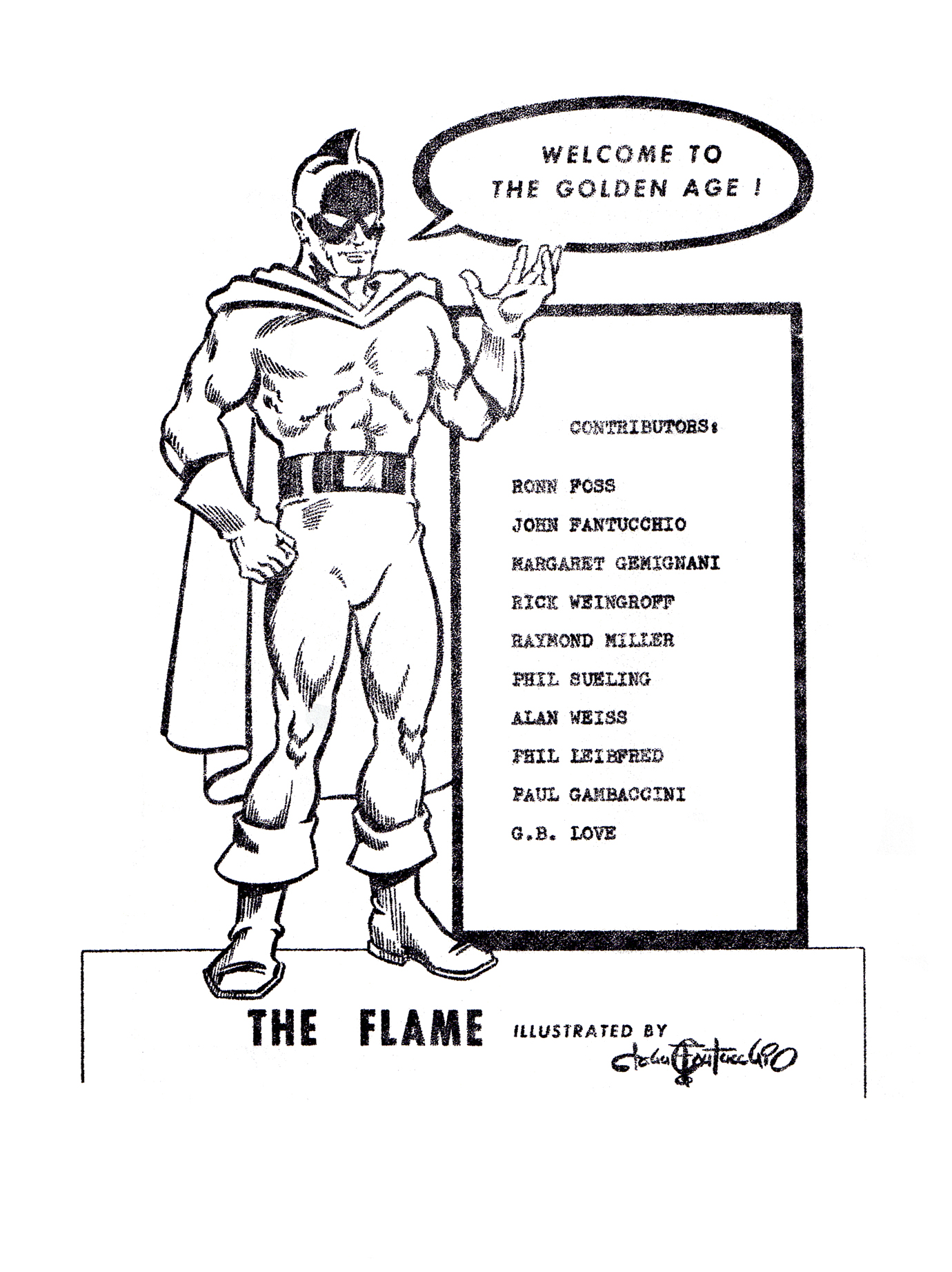 The Golden Age #1 Contents Page by John G Fantucchio