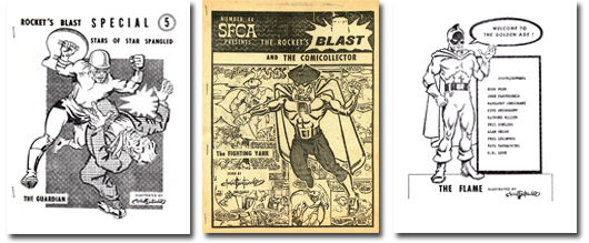 Images of Rocket's Blast Special 5, Rocket's Blast & the Comicollector 44, and