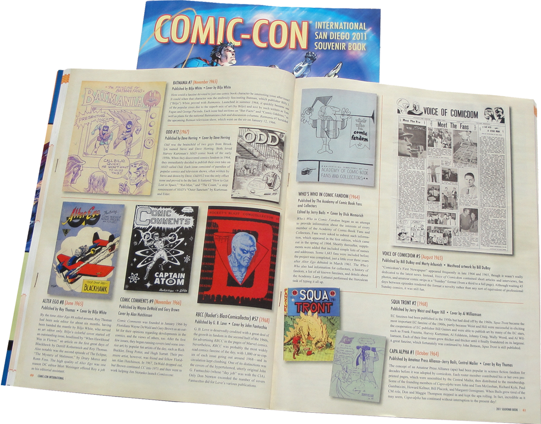 2011 Comic-Con Souvenir Program Pg 40-41 featuring John Fantucchio RBCC 57 cover reproduction!