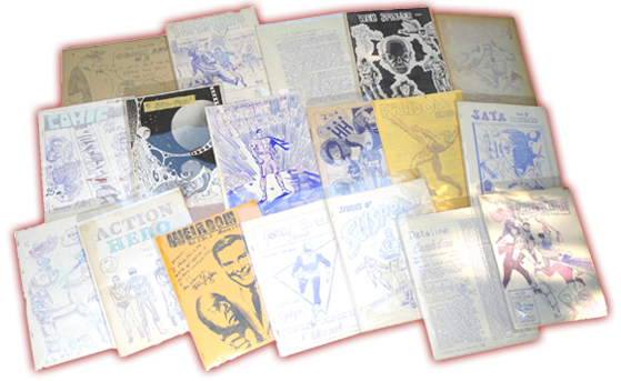 Ditto and mimeographed comic book fanzines from the 60's!