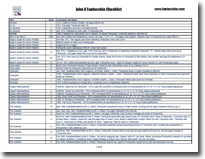 Download a pdf version of The John G. Fantucchio Checklist!