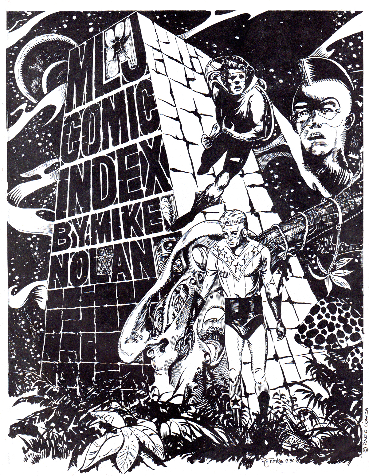 MLJ Index fanzine cover by Rudi Franke