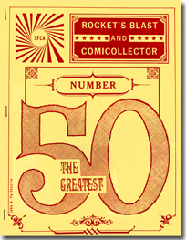 All-typography RBCC 50 cover by John Fantucchio