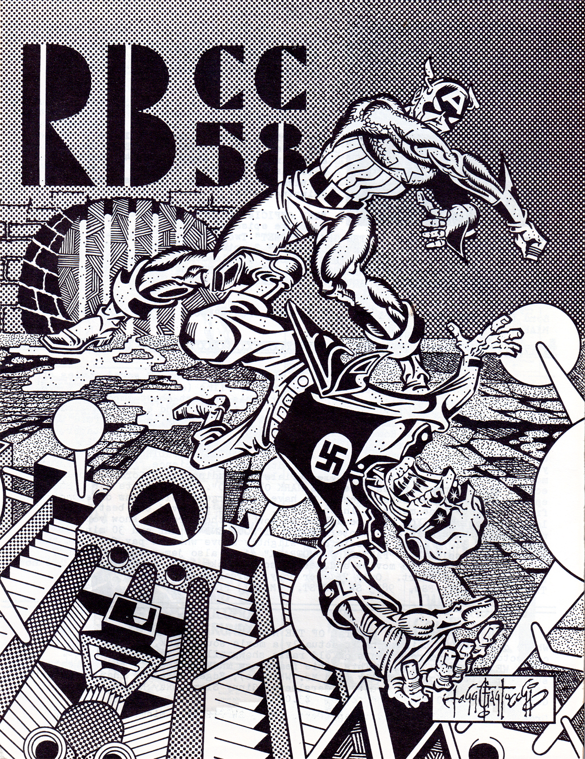 Rocket's Blast Comicollector (RBCC) #58 cover by John G. Fantucchio